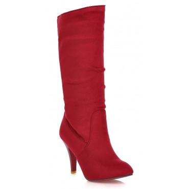 Bottes femmes, talons petites pointures, rouges, Sabra