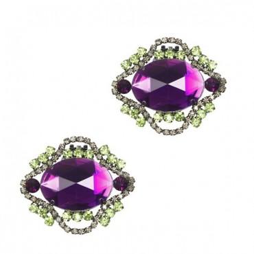 Clip Shoes NARCISSE violet - Chaussures femmes petites pointures