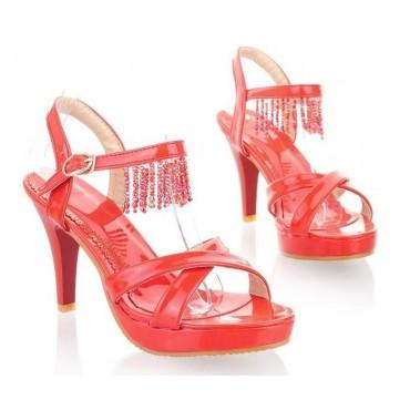 Sandales rouges Fania