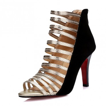 Sandales cuir noires, Gladiator