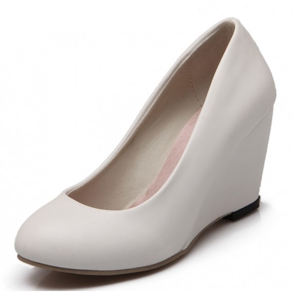 chaussure compensee blanche