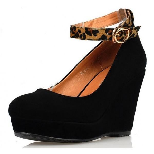 chaussures compens es brides petites pointures femmes noires felicia petits souliers. Black Bedroom Furniture Sets. Home Design Ideas