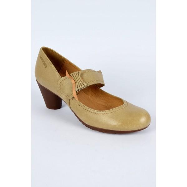 escarpins cuir beige fon talon 5 5 cm bride pointure 35 marie petits souliers. Black Bedroom Furniture Sets. Home Design Ideas