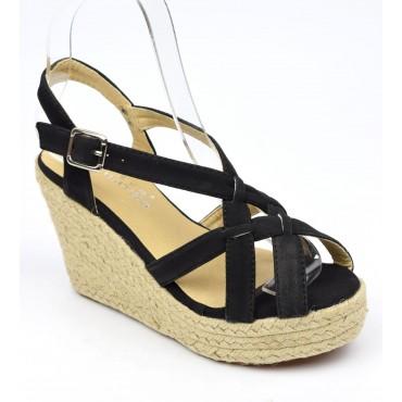 Sandales, femmes, petites pointures, noires, Sigrid