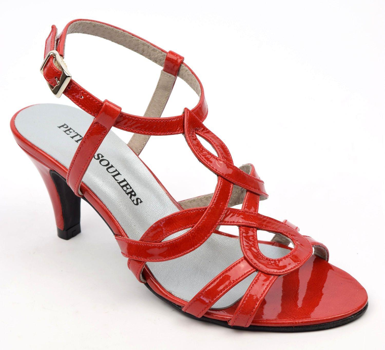 61368ce6b6e05 Sandales femmes chaussons talon carré rouge élégant talon 5 cm confortable  1115 JmLCQ