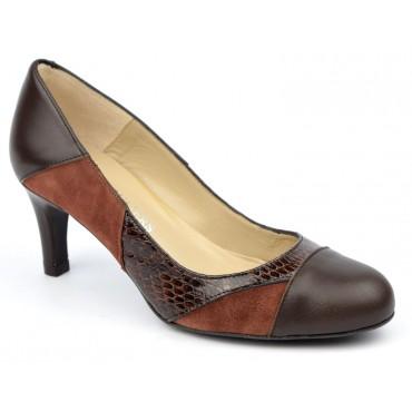 Escarpins cuir, marron, Brenda Zaro, femmes petites pointures, Tango, F1708