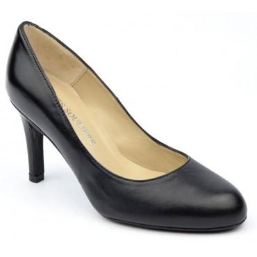 Escarpins cuir lisse noires, Brenda Zaro, femmes petites pointures, Kwaito, F1695B