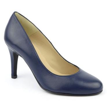 Escarpins Cuir mate Brenda Zaro, bleu marine, Talon 8 cm, Isabella, F96559