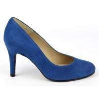 Escarpins cuir daim, Brenda Zaro, bleu roi clair, Talon 8 cm, Delfina, F96559