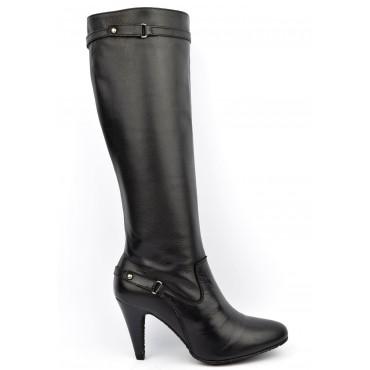 Bottes, cuir vieilli noires, femmes petites pointures, Yves de Beaumond, Sanderland, 7201