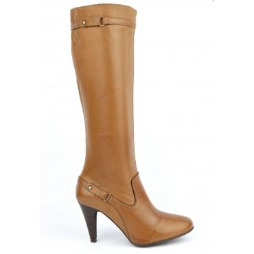 Bottes, cuir vieilli marron clair havane, femmes petites pointures, Yves de Beaumond, Sanderland, 7201