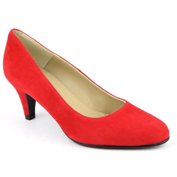 Escarpins Daim Brenda Zaro, rouges, talon 6.5 cm, F96136