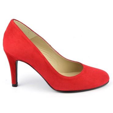 Escarpins Daim Brenda Zaro, rouges, Talon 8 cm, F96559
