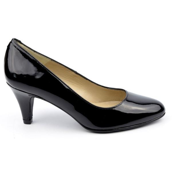 Escarpins Cuir Verni Brenda Zaro, noires, Talon 6.5 cm, F96136
