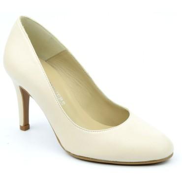 Escarpins Cuir mat Brenda Zaro, beige, Talon 8 cm, F96559