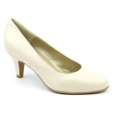 Escarpins Cuir mate Brenda Zaro, beige, Talon 6.5 cm, F96136