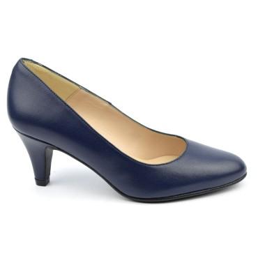 Escarpins Cuir mat Brenda Zaro, bleu marine, Talon 6.5 cm, F96136