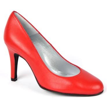 Escarpins Cuir mat Brenda Zaro, rouges, Talon 8 cm, F96559