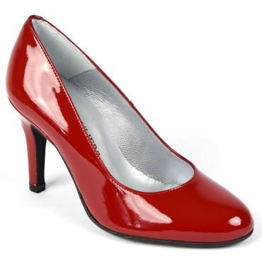 Escarpins Cuir Verni Brenda Zaro, rouges, Talon 8 cm, Baya