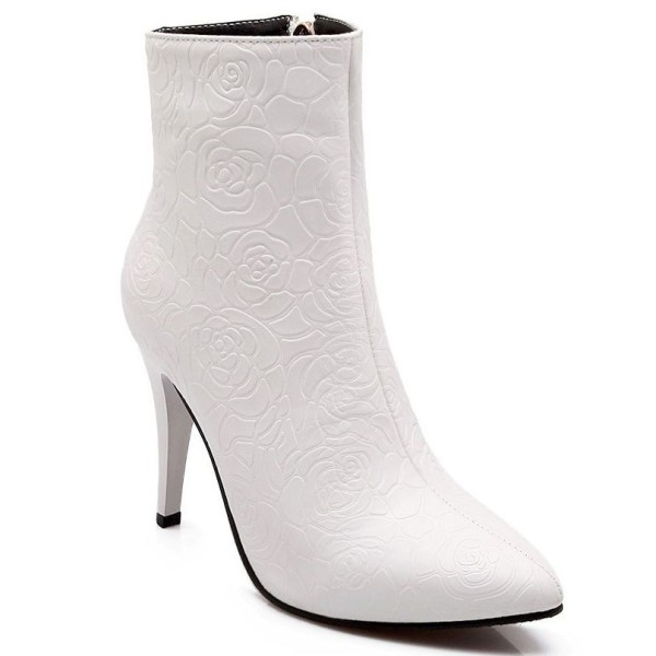 d17f49cf68398f Bottines, fashion, petites pointures, femmes, blanches, Morgane ...