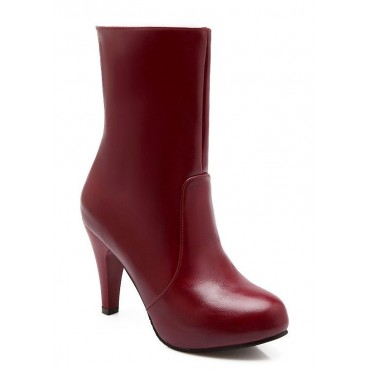 Bottines, mollet, petites pointures, rouges, Debora
