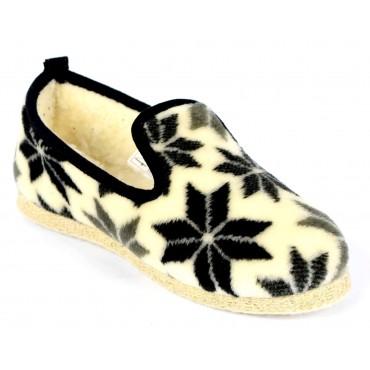 Pantoufles charentaises, laine, pointure 35, Honorine