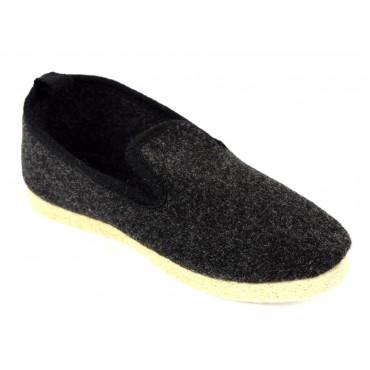 Pantoufles charentaises, noires, pointure 35, Armance