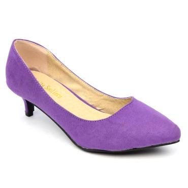 Escarpins, petites pointures, talons 5 cm, violets, Andrea
