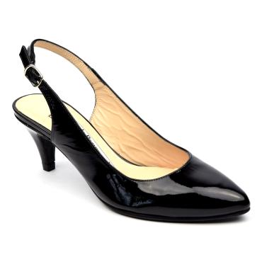 Escarpins cuir verni, noires, mi-saison, Yves de Beaumond, petits talons 6 cm, Calicia, femmes petites pointures