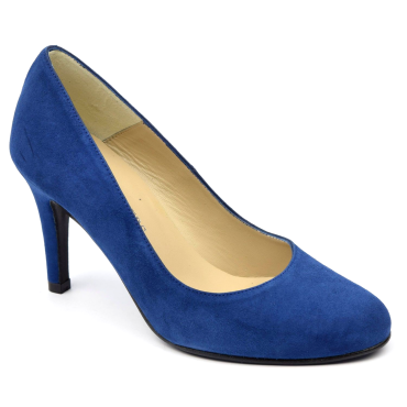 Escarpins Daim Brenda Zaro, bleu roi fonçé, Talon 8 cm, Delfina