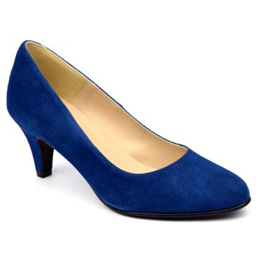 Escarpins Daim Brenda Zaro, bleu roi fonçé, Talon 6.5 cm, Delfina