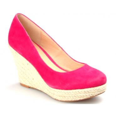 Chaussures femmes petites pointures compensées, espadrilles, roses Sania