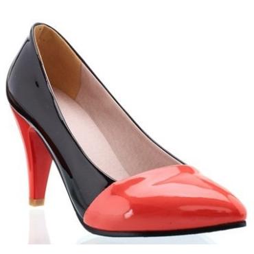 Escarpins vernis rouges Obéline, petites pointures