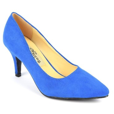 Escarpins, petites pointures, talons 7 cm, bleues, Naline