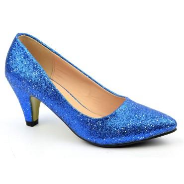 Escarpins pailletés bleus Manea