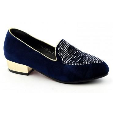 Escarpins ballerines bleues Mireille
