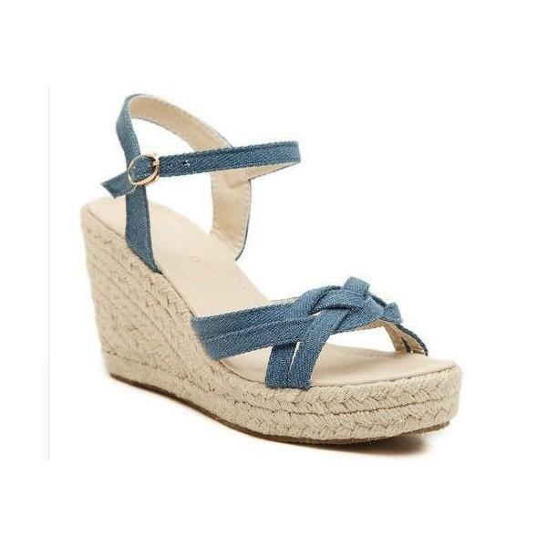 Sandales CompenséesJeanBleuesIsmaFemmes CompenséesJeanBleuesIsmaFemmes Petites Pointures Petites Sandales Pointures Sandales J3uTl1cF5K