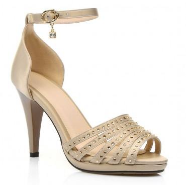 Sandales satinées, nudes, Scarlett, petites pointures femmes