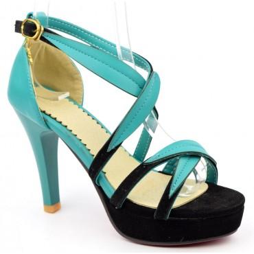 Sandales bleues Floralie