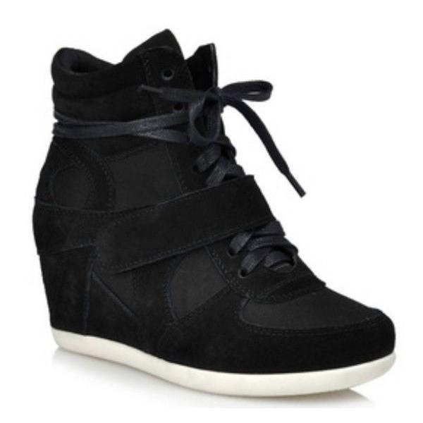 baskets compens es noires carmela pointure 34 et 35 petits souliers. Black Bedroom Furniture Sets. Home Design Ideas