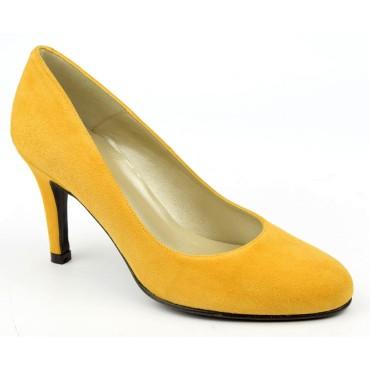 Escarpins Daim Brenda Zaro, ambre, Talon 8 cm, Delfina, F96559