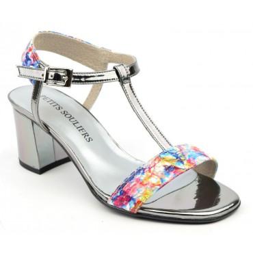 Sandales cuir motif multicolore, Posadas F1464E, Brenda Zaro