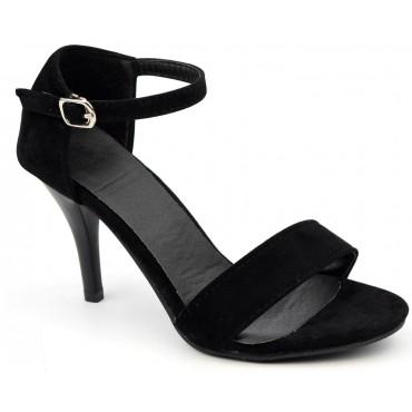 Sandales aspect daim noire, Leeton, femme petite pointure
