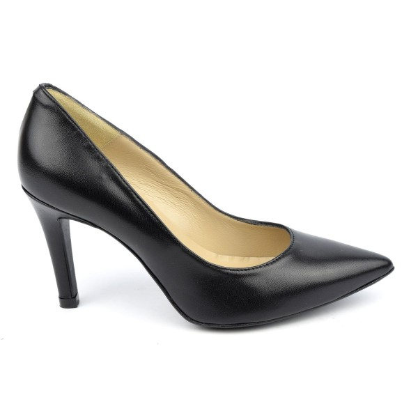 Escarpins cuir mat, noire, Brenda Zaro, F1058