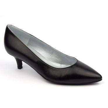 Escarpins classiques, cuir mat, noires, talons 5 cm, Brenda Zaro F1251