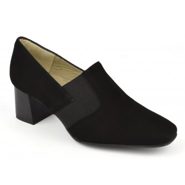 Mocassins, velour noir, F2343