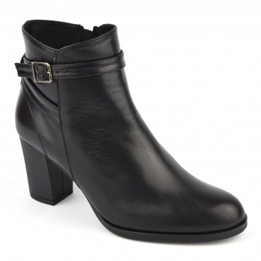 Bottines cuir mat noir, FZ97588