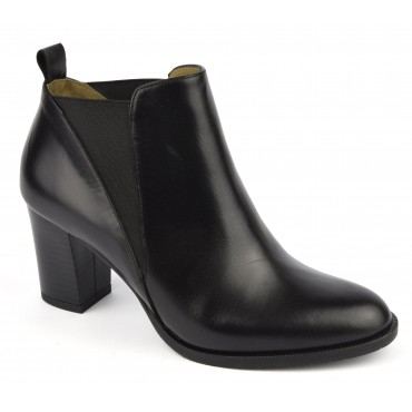 Bottines, cuir mat, noir, F2426