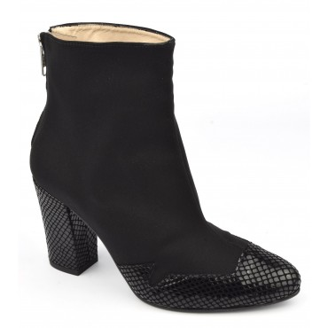 Bottines Licra et serpent noires, MI-606