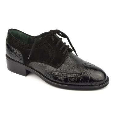 Derby élégantes, cuir noir, 4833, Plumers